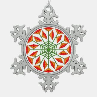 Joy Flower 338 Pewter Snowflake Decoration