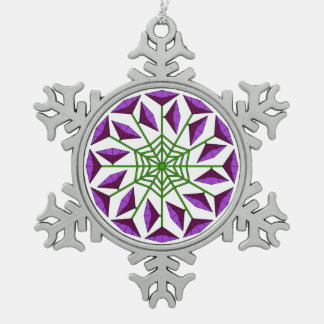Joy Flower 342 Pewter Snowflake Decoration