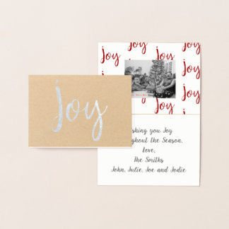 Joy Foil Personalized Mini Card