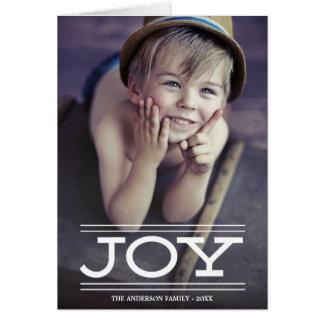 Joy | Folded Holiday Greeting Card