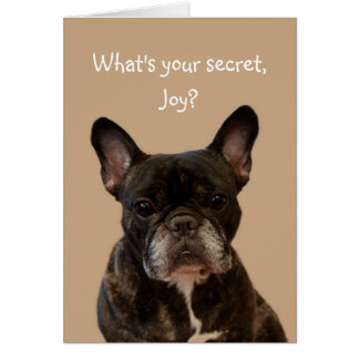 Joy French Bulldog Shakespeare Happy Birthday Card