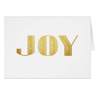 Joy Gold Metallic Art Deco Holiday Greeting Card