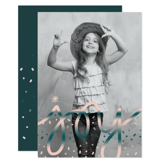 Joy Hand Lettered | Christmas Holiday Photo Card