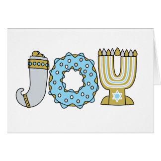 JOY (Hanukkah) - A7 (Landscape) Card