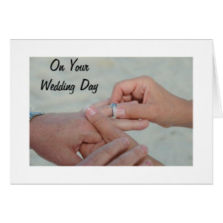 JOY, HAPPINESS AND LOVE ON YOUR WEDDING DAY GREETING CARD
