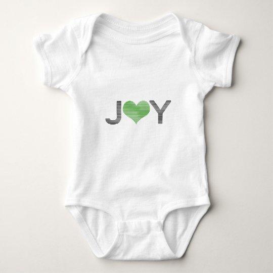 Joy - heart - black and green. baby bodysuit