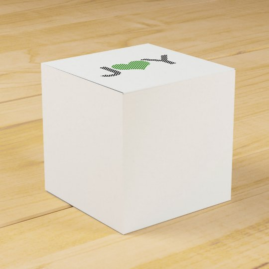 Joy - heart - black and green. favour box