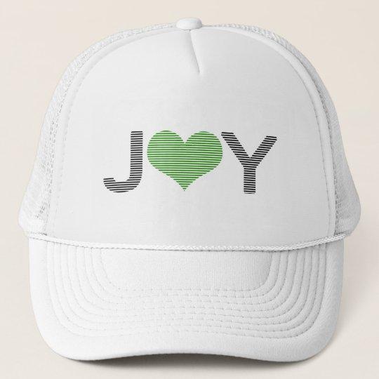 Joy - heart - black and green. trucker hat