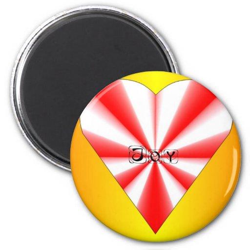 Joy Heart Magnet