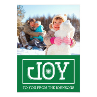 JOY Holiday Card (Green)