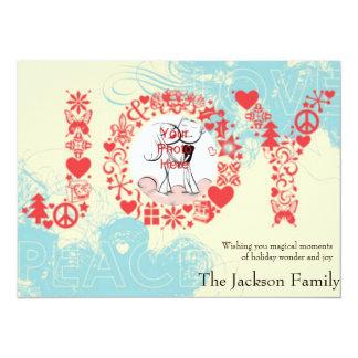 Joy Holiday Custom Photo Cards Custom Announcement