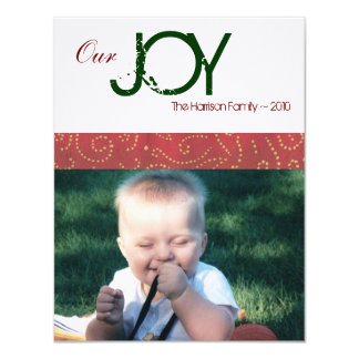 Joy Holiday Photo Card 11 Cm X 14 Cm Invitation Card