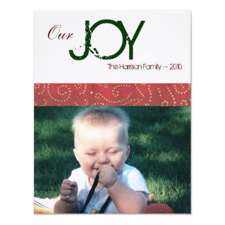 """Joy Holiday Photo Card 4.25"""" X 5.5"""" Invitation Card"""