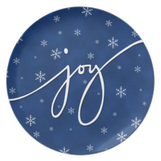 Joy in Blue Party Plate