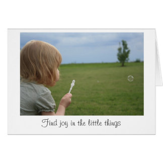 """Joy in the little things"" Blank Card"