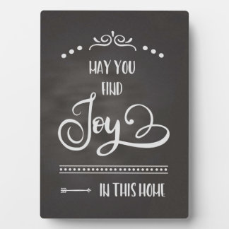 Joy in this Home-Chalkboard Plaque