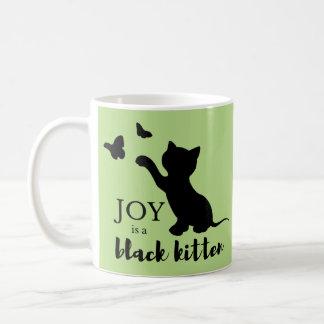 Joy is a Black Kitten Coffee Mug