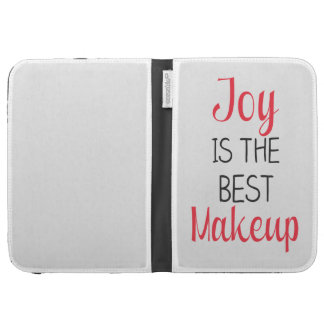 Joy Is The Best Makeup - Inspirational Quote Case For Kindle