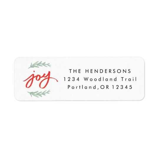 Joy Laurel | Return address label