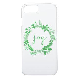 """Joy"" laurel wreath | mossy green iPhone 7 Case"