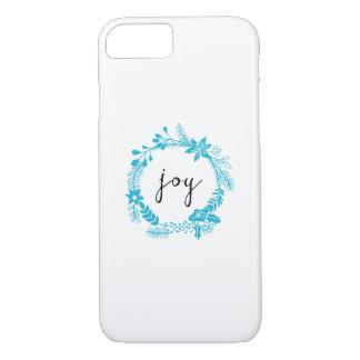 Joy | Laurel Wreath | Turquoise wreath iPhone 7 Case