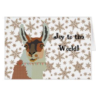 Joy Llama Christmas Card