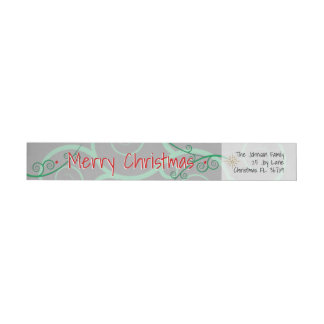 Joy • Love • Magic • Wonder • Christmas Wraparound Return Address Label