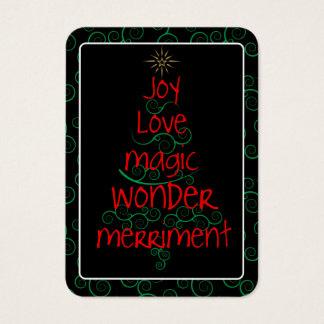 Joy • Love • Magic • Wonder • Mini-Greetings Business Card