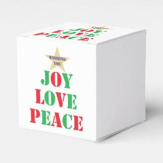 Joy Love Peace Party Favor Box