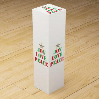 Joy Love Peace Wine Bottle Box