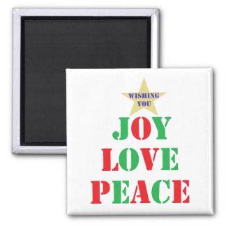 Joy, Love, Peace Fridge Magnet