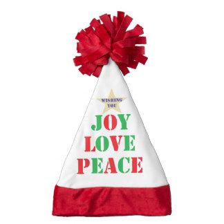 Joy, Love, Peace Santa Hat