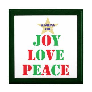 Joy Love Peace Jewelry Box