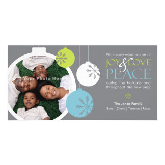 JOY LOVE PEACE (Grey) Card