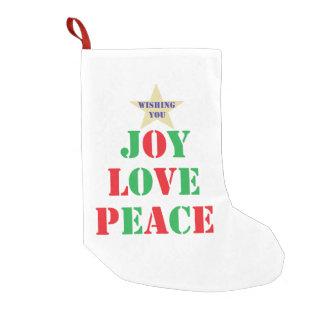 Joy, Love, Peace Small Christmas Stocking