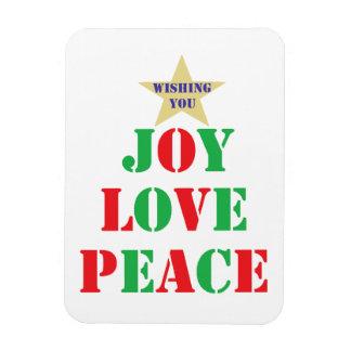 Joy, Love, Peace Vinyl Magnet