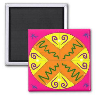 Joy Mandala Square Magnet