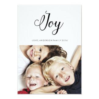 JOY modern holiday card calligraphy lettering 13 Cm X 18 Cm Invitation Card