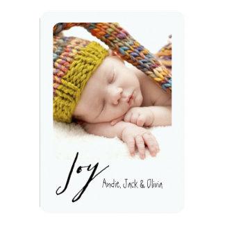 Joy Modern Polaroid Holiday Card 13 Cm X 18 Cm Invitation Card