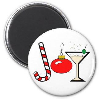 Joy Of Christmas 6 Cm Round Magnet
