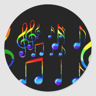 Joy Of Music Lives_ Classic Round Sticker