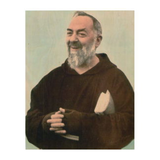 JOY OF PADRE PIO, WOOD PRINTS