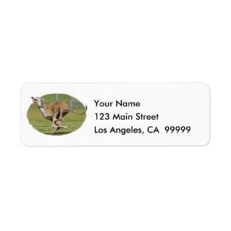 Joy of Running in Grass Return Address Label