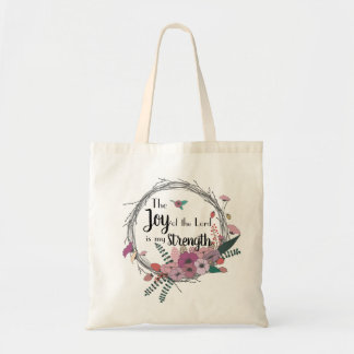 Joy of the Lord Floral Tote