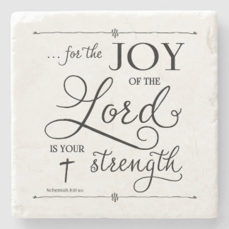 Joy of the Lord - Nehemiah 8:10 Stone Beverage Coaster