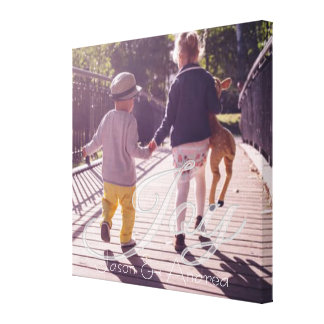 Joy Overlay | Personalized Family Canvas Print