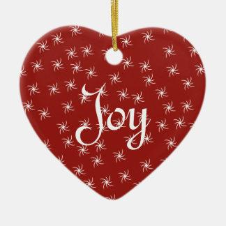 Joy & Peace Ceramic Heart Decoration