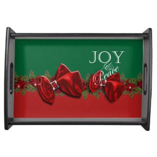 Joy peace Christmas wreath decorations Service Trays