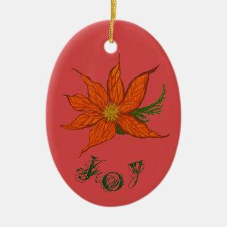 Joy & Peace Customisable Ceramic Oval Decoration