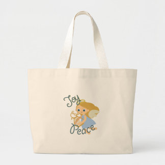 Joy & Peace Large Tote Bag